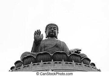 de, grote boeddha, in, hong kong