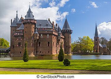De Haar castle near Utrecht - Netherlands - architecture...