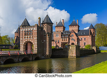 De Haar castle near Utrecht - Netherlands - architecture...