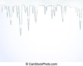 de, icicles