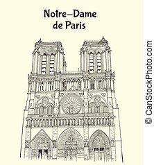 de, kathedrale, frankreich, paris, dame, notre