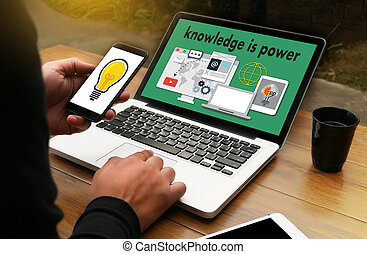 de kennis is macht, strategie, plan, teamwork, opleiding, opleiding