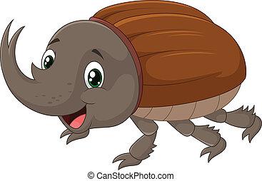 de kever van de rinoceros