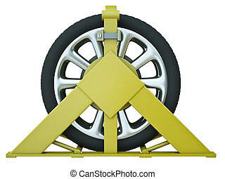 de klem van het wiel