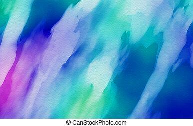 de kleur van het water, achtergrond., abstracte kunst, hand, verf