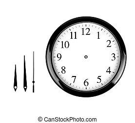 de klok van de muur