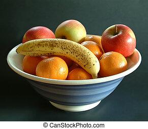 de kom van het fruit