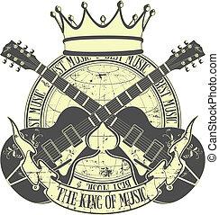 de, koning, van, muziek