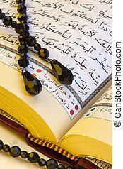 de, koran, -, islamitisch, heilig, boek