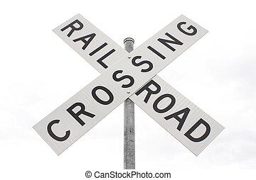 de kruising van de spoorweg
