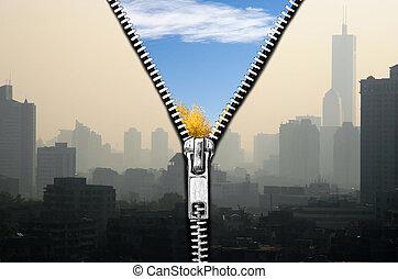 de kwaliteit van de lucht