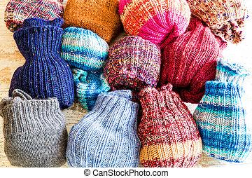 de lana, calcetines