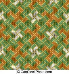 de lana, cross., eslavo, patrón, yarga, seamless, tejido, ...