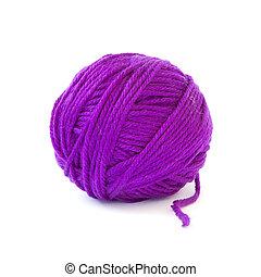 de lana, pelota