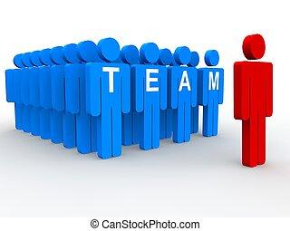 de leider van het team, concept