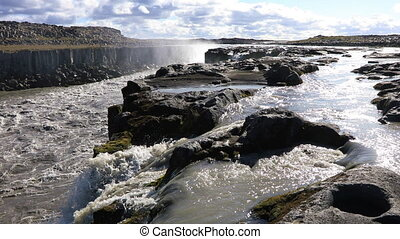 de, machtig, selfoss, waterval, in, ijsland