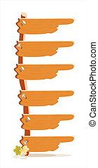 de madera, índice, sitio internet, menú