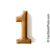 de madera, 1, numérico