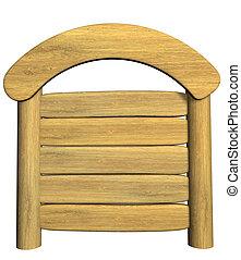 de madera, 3d, signboard