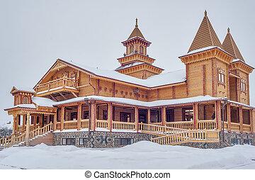 de madera, architecture., museo, rusia