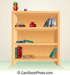 de madera, armariopara libros