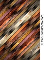 de madera, azulejos, montado, piso