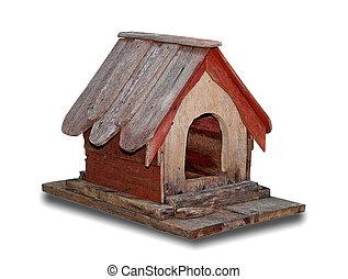 de madera, blanco, aislado, plano de fondo, birdhouse