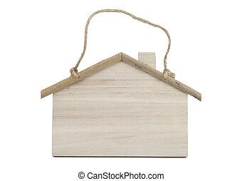 de madera, blanco, signboard, aislado