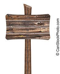 de madera, blanco, tablas, señal