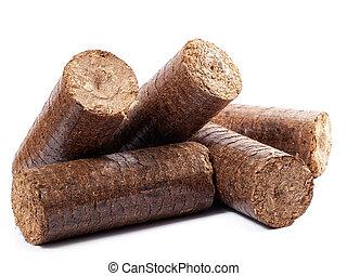 de madera, Briquetas