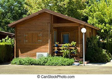 de madera, bungalow