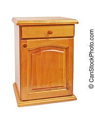 de madera, cabecera, nightstand