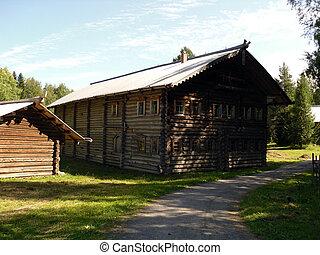 de madera, casa