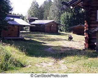 de madera, casas