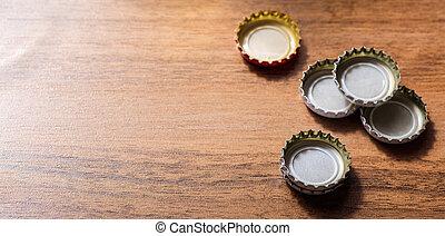 de madera, cerveza, plano de fondo, tapas