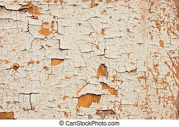de madera, chappy, viejo, superficie, pintura