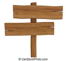 de madera, cicatrizarse, vacío, señal