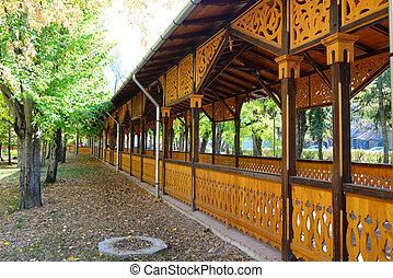 de madera, columnata, señal