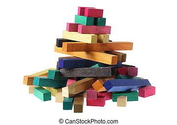 de madera, componentes básicos