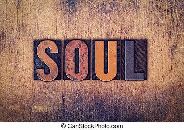 de madera, concepto, tipo, alma, texto impreso