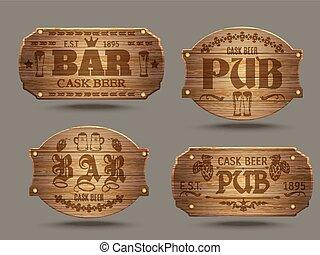 Ocupado barra bar ocupado barra gente editable for Barra bar madera dibujo
