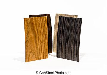 de madera, conjunto, cobertura, tipos