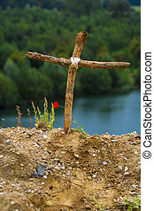 de madera, cruz