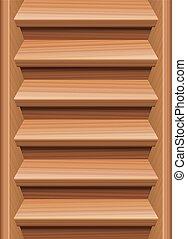 de madera, escaleras, escalera, interminable