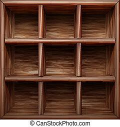 de madera, estante
