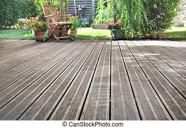 de madera, ewotic, terraza