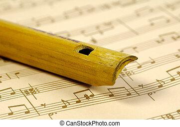 de madera, flauta