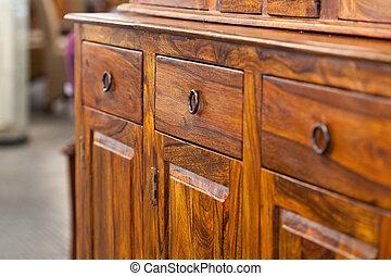 de madera, gabinete
