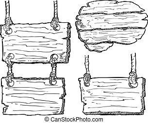 de madera, grunge, tablón