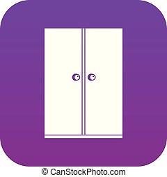 de madera, guardarropa, púrpura, icono, digital